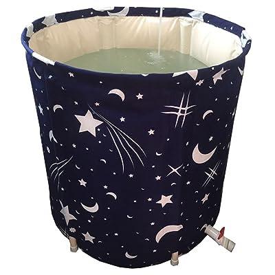 XUANLAN Seau démontable épaissi de Bath, seau se pliant gonflable de Bath, baril épaissi adulte de Bath de ménage ( Color : Covered , Taille : D70*H65CM )