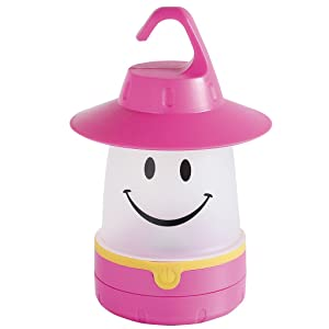 Smile LED Lantern: Portable Night Light Camping Lantern For Kids (Raspberry)