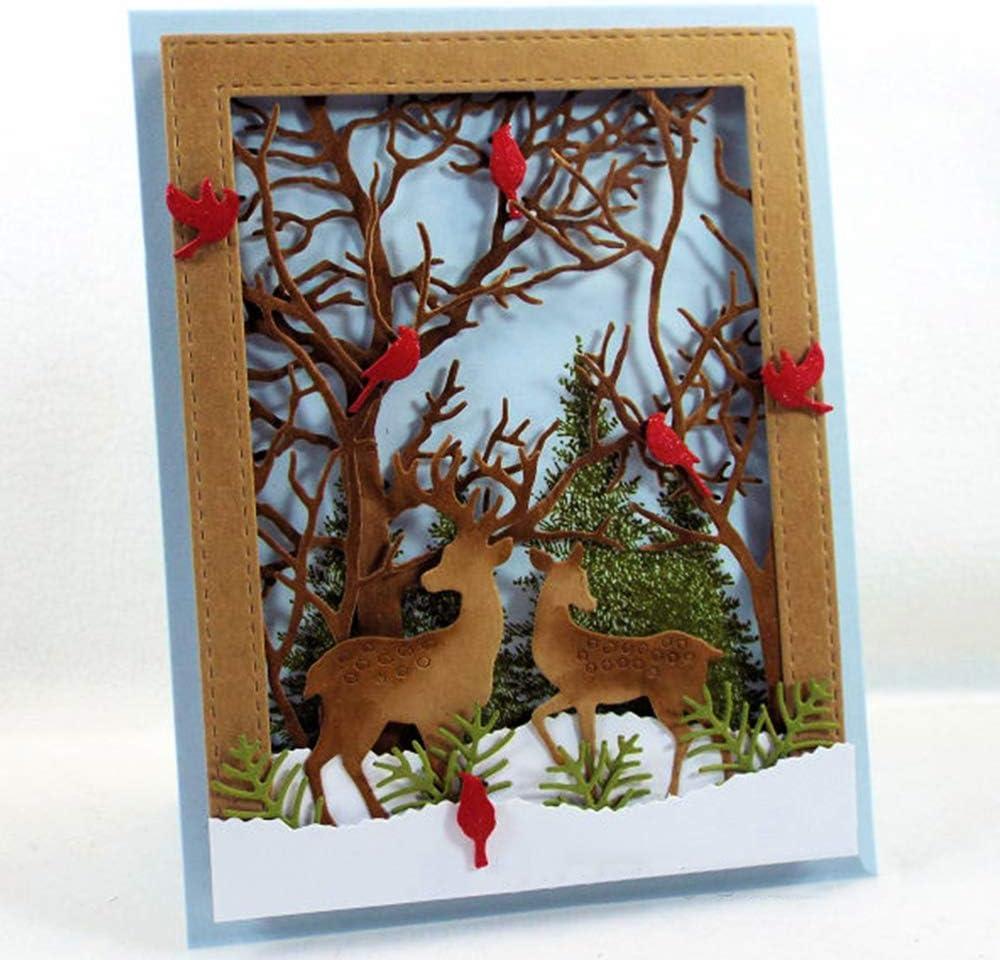3 Juegos de Troqueles Navidad Scrapbooking de Metal Dise/ño Navide/ños Troqueles de Corte Plantillas Dies Cut Tarjeta Papel Decoraci/ón Manualidades