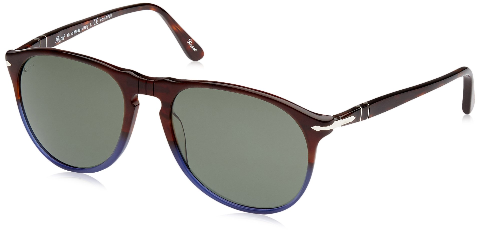 Persol Mens Sunglasses (PO9649S (55)) Blue/Grey Acetate - Polarized - 55mm by Persol