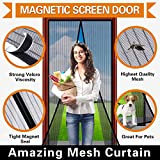 Magnetic Screen Door Magic Mesh Curtain Full Frame Velcro Mosquito Net,Close Automatically Tightly Keep Bugs Out,Lets Fresh Air In,Toddler And Pet Friendly (36''x83'' - Fits doors up to 34''x82'' Max)