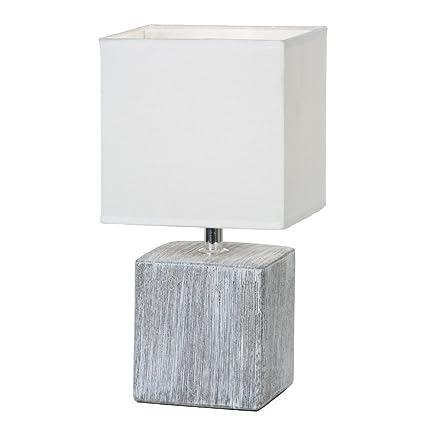 Lámpara para mesita de noche, con pantalla de tela y pie de ...