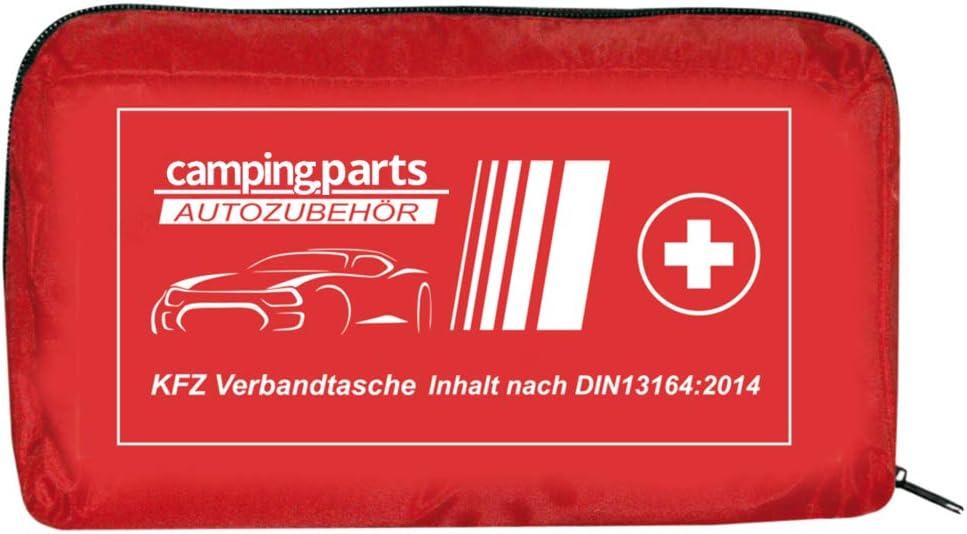 Auto Verbandskasten Verbandstasche Kfz Fahrzeug Zubehör Reise Verbandtasche Din 13164 Rot First Aid Kit Red Drogerie Körperpflege