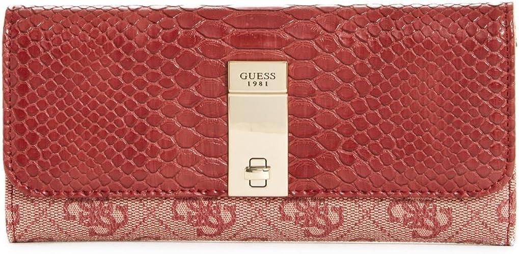 "Womens Designer /""Bordeaux/"" Clutch Bifold Wallet"