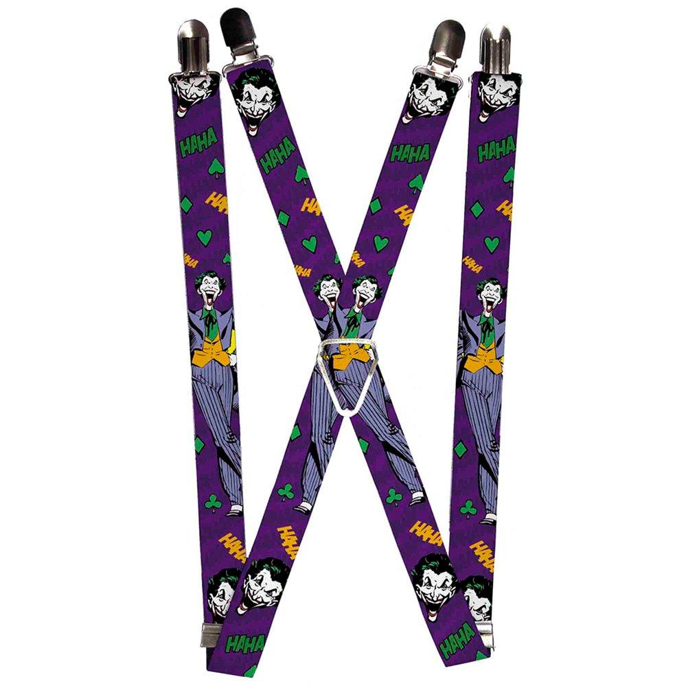 Buckle-Down Suspenders-Joker Face//Pose//Elements Collage Purple//Green//y