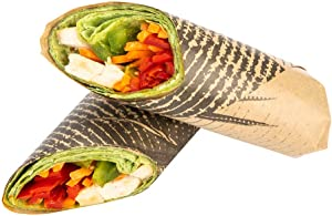 12 Inch Deli Papers, 200 Mexican Agave Sandwich Wrapping Papers - Greaseproof, Microwave-Safe, Black Kraft Paper Food Basket Liners, For Nachos, Tacos, Quesadillas, Or Burritos - Restaurantware