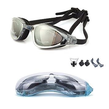 5f19e94abf yjwb gafas de natación, antivaho, no leakinguv protección Triathlon - Gafas  de natación hombres mujeres niños gafas de natación, Negro: Amazon.es:  Deportes ...