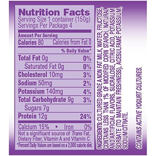 Dannon, Light & Fit Yogurt, Greek, Vanilla, 5.3 oz, 4 pack: Amazon.com: Grocery & Gourmet Food