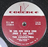 THE CHORDETTES 45 RPM THE SONG FROM MOULIN ROUGE / HI-LILI, HI-LO