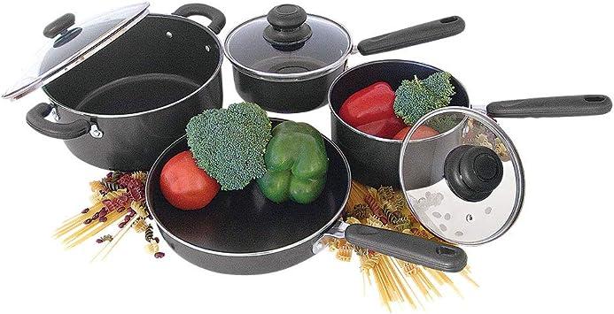 Better Chef 4 Piece Non Stick Cookware Set Various Black Kitchen Dining