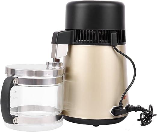 ridgeyard 4L Purificador de agua pura Destilador Dental y Pure agua eléctrica acero inoxidable 304 cuerpo & filtro botella de cristal 1L/H: Amazon.es: Hogar