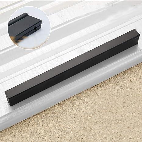 Möbelgriffe DIY Griffe Möbelknopf Schubladengriffe Relinggriff Handgriff  für Küche Schublade, Tür, Schränke,Hause (96mm, Schwarz)