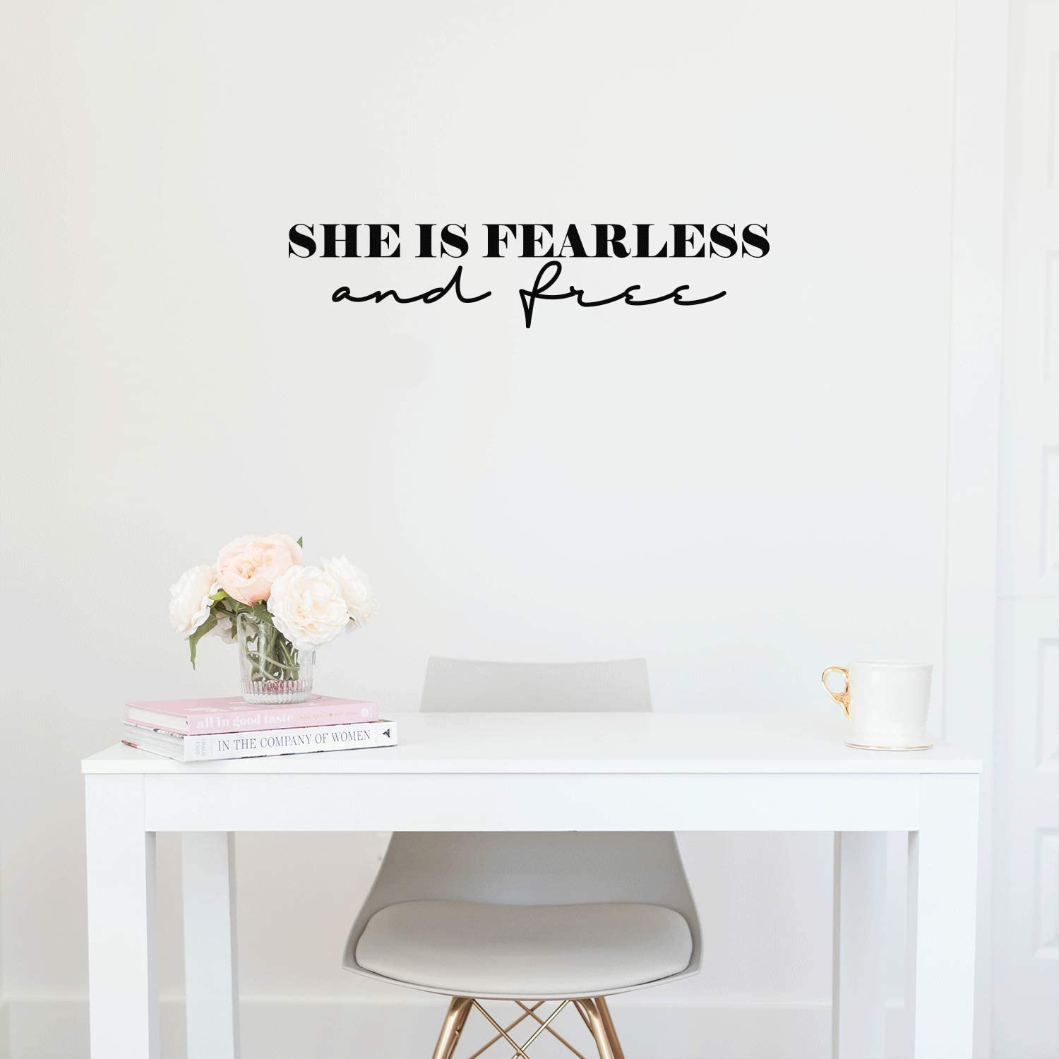 Vinyl Wall Art Decal - She is Fearless and Free - 5