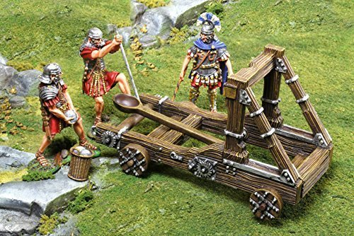 The Collector's Showcase Roman Wars Toy Soldiers Roman Catapult Figures Toy Soldiers Painted Metal Figure 54mm CS00841 Compatible Britains Thomas Gunn First Legion King Country Black Hawk Type ()