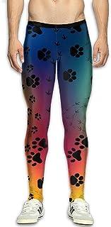 Dog Bones Paw Men's Fitness Compression Pants Sports Leggings Tights Baselayer Yoga Trousers