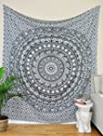 Tapestry Twin Black and White Hippie...