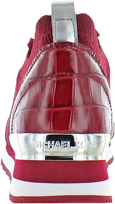 MICHAEL Michael Kors Billie Knit Trainer Femme , rouge
