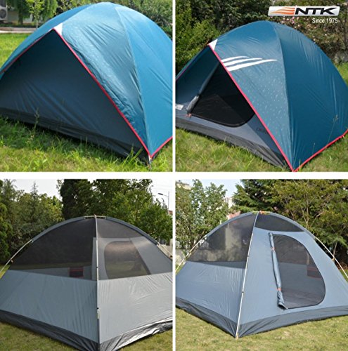 NTK Cherokee GT 5 to 6 Person 9.8 by 9.8 Foot Outdoor Dome Family Camping Tent 100% Waterproof 2500mm, Easy Assembly, Durable Fabric Full Coverage Rainfly - Micro Mosquito Mesh for Maximum Comfort. by NTK (Image #7)