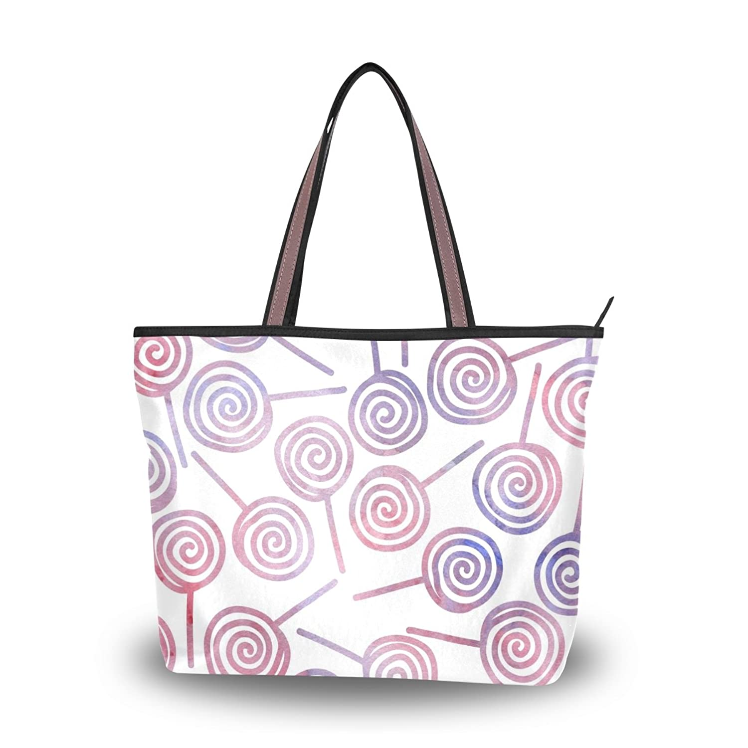 Senya Women's Handbag Microfiber Large Tote Shoulder Bag, Watercolor Pattern
