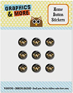 Wonder Woman Movie Golden Lasso Logo Set of 9 Puffy Bubble Home Button Stickers Fit Apple iPod Touch, iPad Air Mini, iPhone 5/5c/5s 6/6s 7/7s Plus