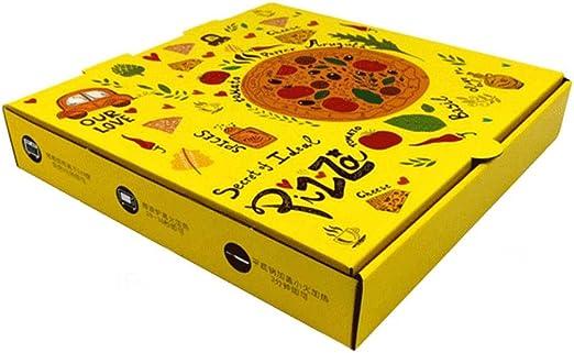 FGSJEJ For Llevar la Caja de Embalaje, Caja de Pizza desechable, Gruesa Caja de Papel Corrugado, Caja de envasado de Alimentos de Aperitivos, Caja de Almacenamiento de Alimentos, 6/7/8/9/10/12