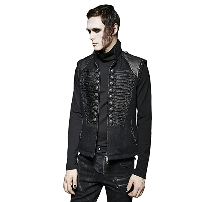 Amazon.com: PUNK Steampunk - Chaleco de uniforme gótico ...