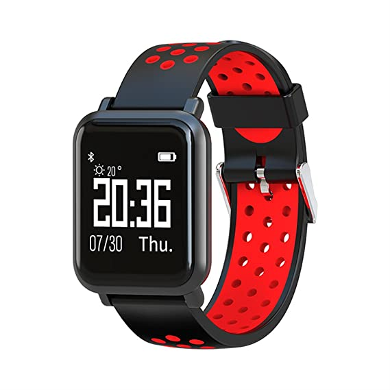 SN60 Smart Watch Bracelet Touch Screen Waterproof Sports Sep Counter Sleep Health Monitoring Bluetooth (Red)