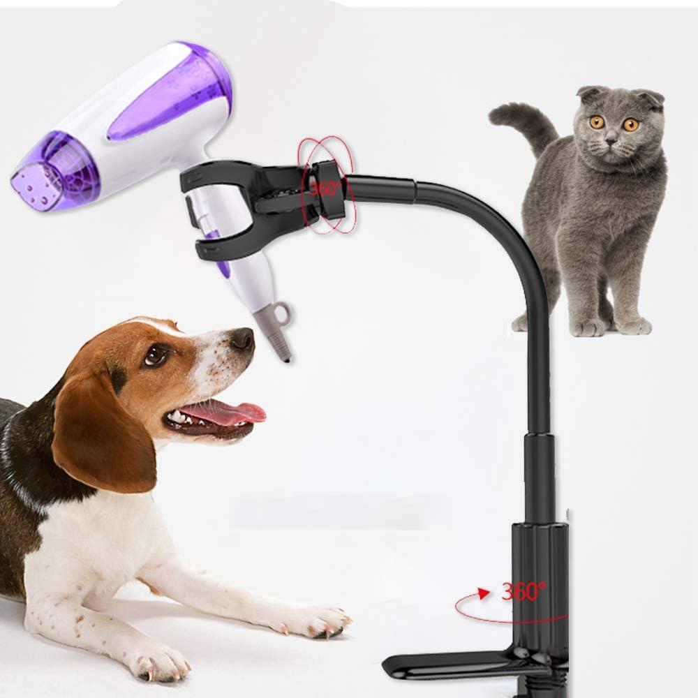 Soporte de secador de Pelo de rotaci/ón de 360 Grados Soporte Ajustable Soporte de Mesa de Belleza Suministros para Mascotas none brand Soporte para secador de Pelo