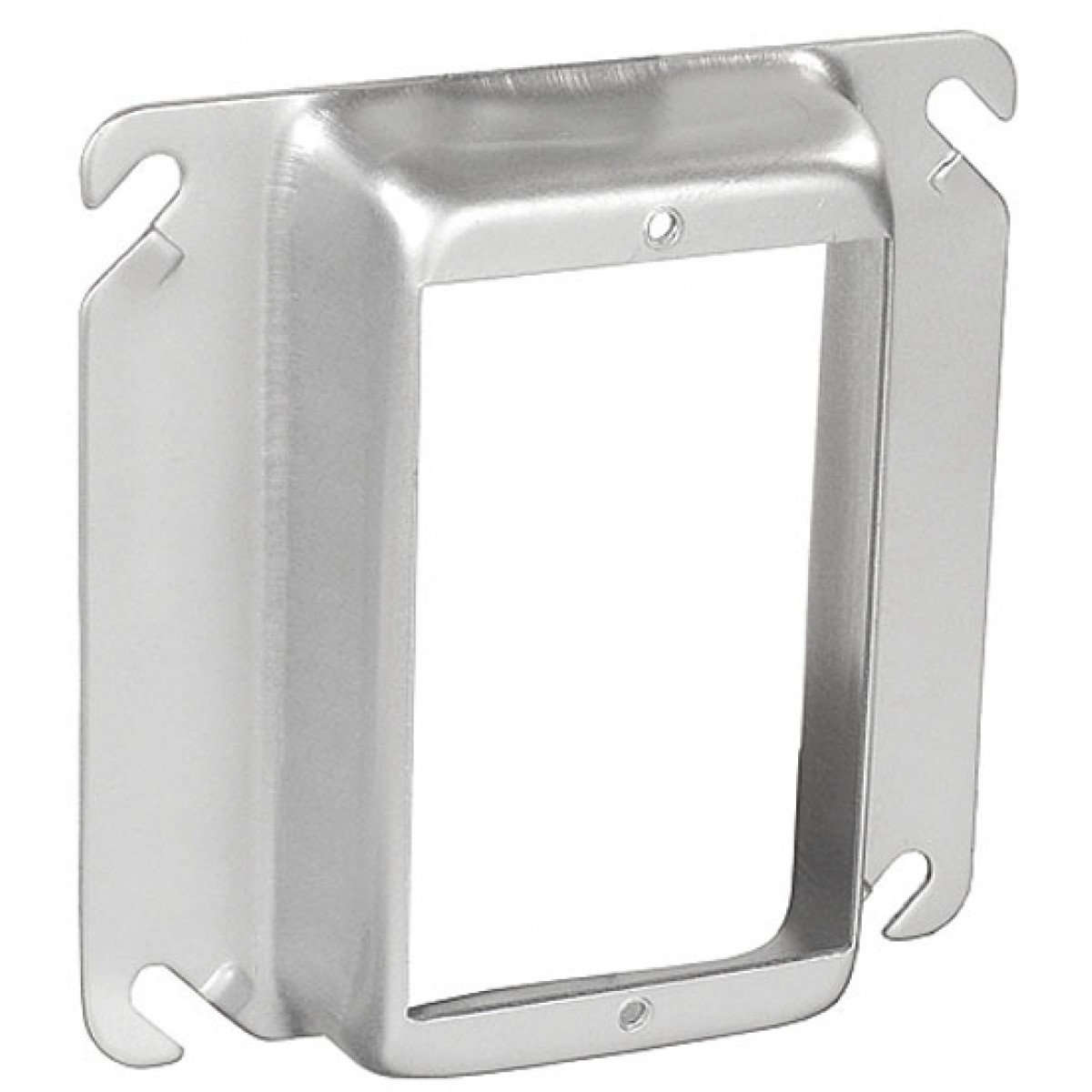 2 Pcs, 304 Stainless Steel 4'' Square One Gang Device Ring, 1 In. Raised Used w/4In Square Electrical Boxes to Provide Easy Way to Mount Switches, Receptacles & Devices