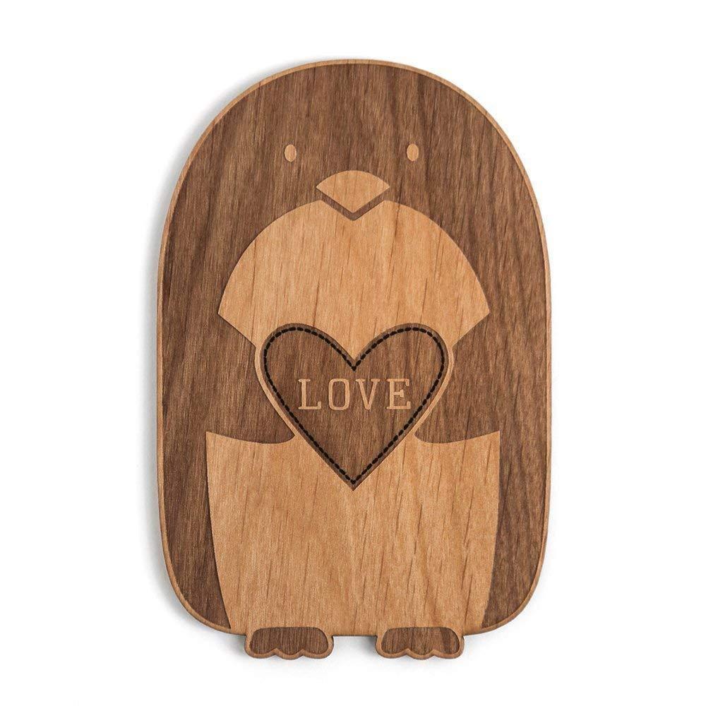 Valentines Day//Love//Anniversary//Boyfriend or Girlfriend Penguin Love Laser Cut Wood Card