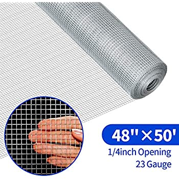 Origin Point 132450 19-Gauge Galvanized Hardware Cloth Fence 50-Foot x 24-Inch With 1//2-Inch Openings 100515943