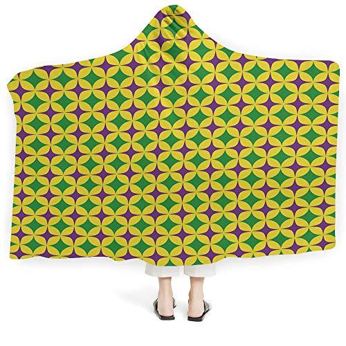 "iPrint Hoodie Wearable Blanket Nursery Super Soft Warm Comfy Large Fleece Big Colorful Set Lovely Animals Birds Flowers Artistic Ornamental Details Decorative (Kids 50""x 60"")"