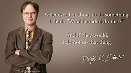 The Office Idiot Dwight Schrute Poster 12x18 Inch Amazonca Home