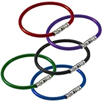 Lucky Line Products Twisty Key Ring, 5 Pack, Assorted Colours (8110005)