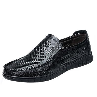Zanpa Herren Freizeit Berufsschuhe Slip on Shoes Black Size 44 BOrSJ44