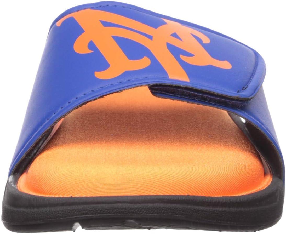 S Team Color MLB New York Mets Mens SMU Big Logo Foam SLIDESMU Big Logo Foam Slide