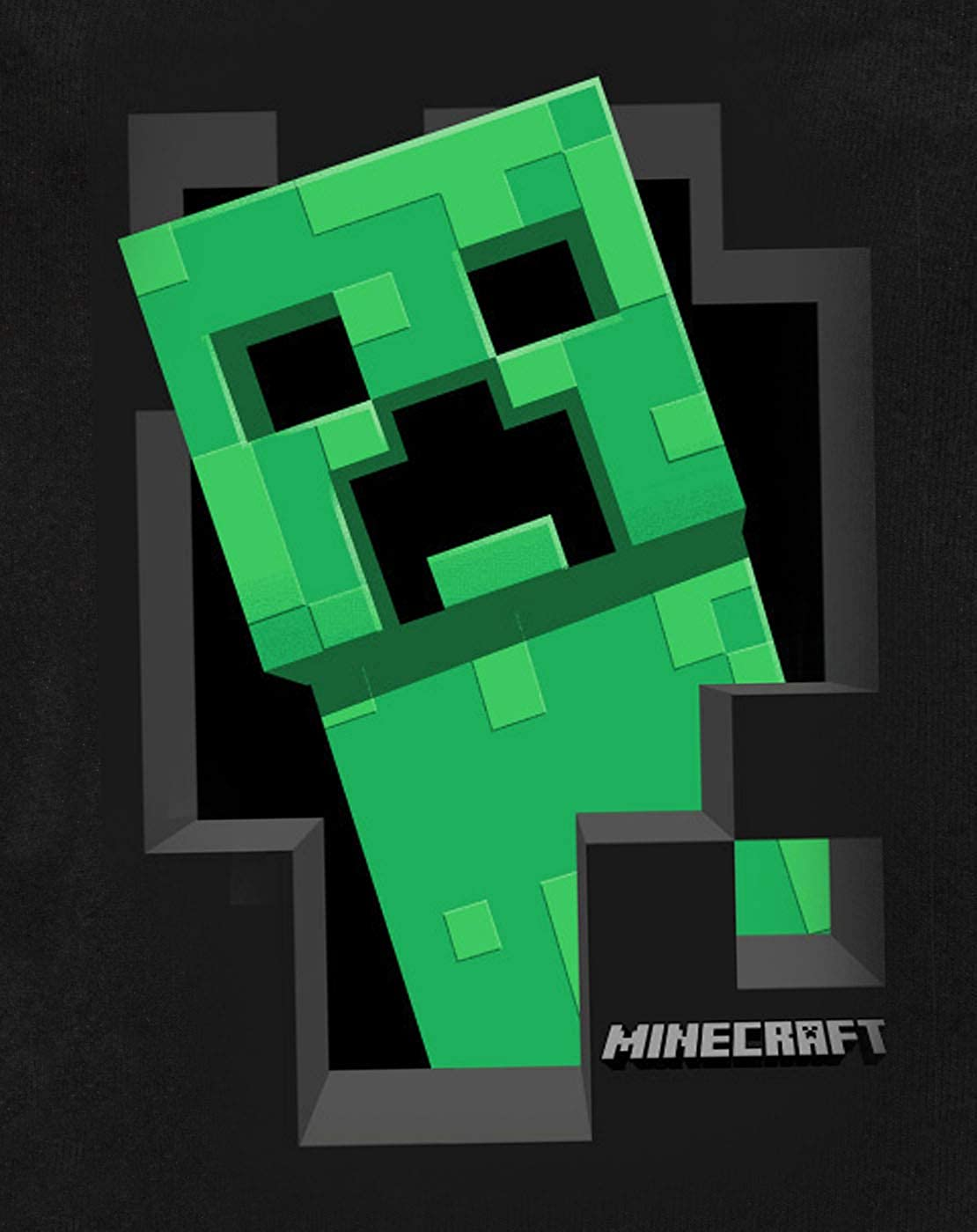 Minecraft Official Creeper Inside Boys Hoodie 3 4 Years
