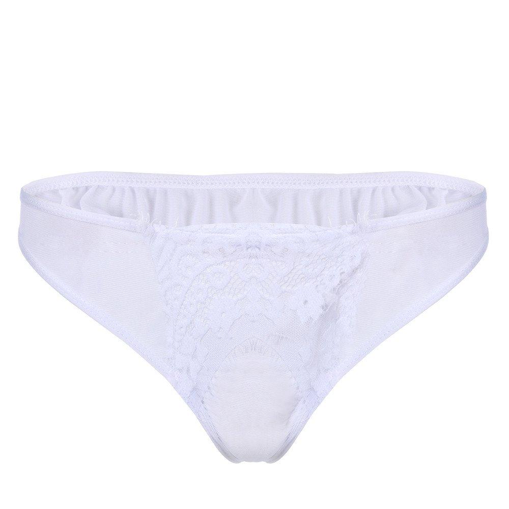 HARRYSTORE Women Panty Thong Lingerie Sheer Babydoll Mesh Robe Lace Nightwear Pajamas (Only Panty)