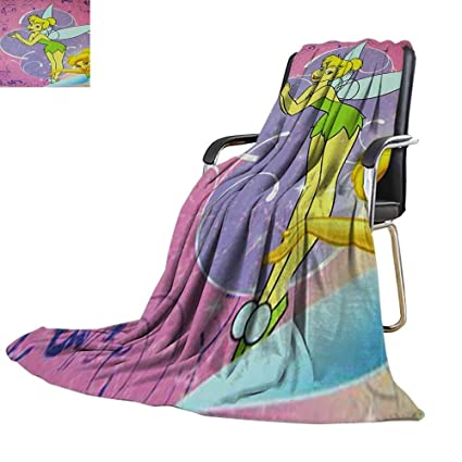 Enjoyable Amazon Com Couch Blanket Tinker Bell Tinkerbell Think Of Unemploymentrelief Wooden Chair Designs For Living Room Unemploymentrelieforg
