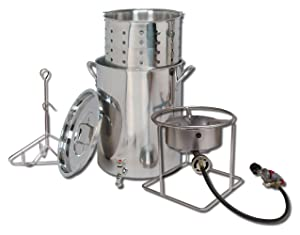 King KookerSS1267SBSPStainless Steel Cooker, Pot and Basket System