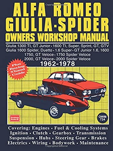 alfa romeo giulia spider owner s workshop manual 1962 1978 autobook rh amazon com 1986 Alfa Spider 1987 Alfa Spider