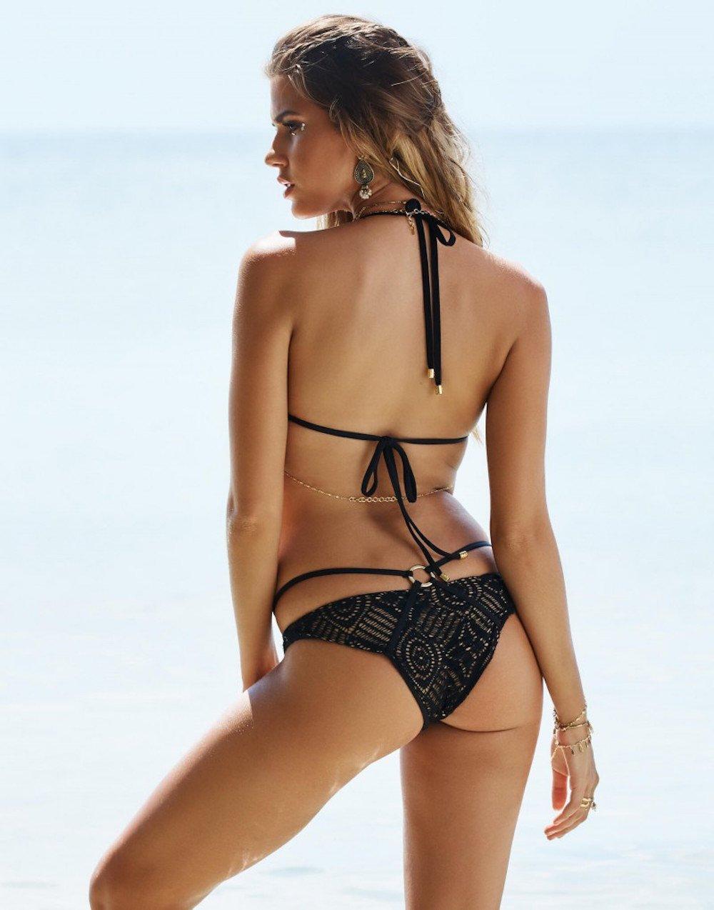 Beach Bunny Women's Love Me Like You Do Skimpy Bikini Bottom, Black, S by Beach Bunny (Image #3)