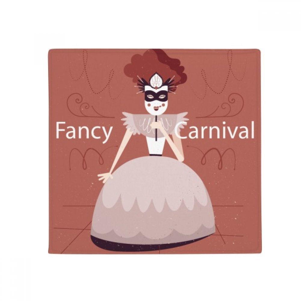DIYthinker Female Dress Mask Happy Carnival of Venice Anti-Slip Floor Pet Mat Square Home Kitchen Door 80Cm Gift