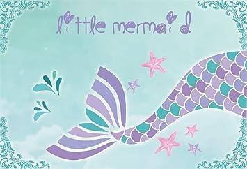 Ofila Mermaid Backdrop 6x4ft Girls Birthday Party Photography Background Girls Mermaid Theme Baby Shower Shoots Mermaid Tail Children Room Wallpaper