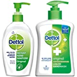 Dettol Sanitizer - 200 ml and Dettol Original Handwash - 200 ml