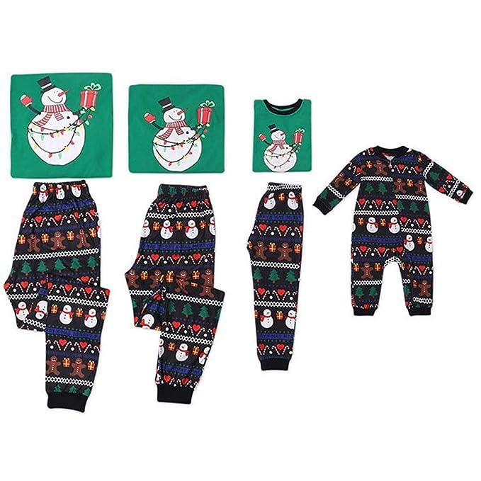 Blaward Navidad Pijamas Familiares Niños Traje Padre-Hijo ...