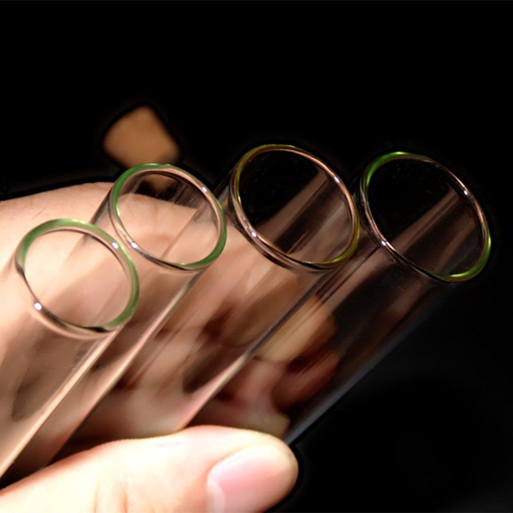 UKCOCO Reagenzgl/äser Reagenzgl/äschen Glasr/öhrchen mit Korken B/ürste Zum Basteln Deko Hochzeit Labor Experiment 20x150mm 20 ST/ÜCKE(Transparent)