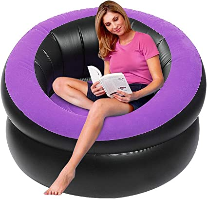 40 X 40 X 28 LetsFunny Inflatable Lounge Chair Hiking,Swimming Pool or Home Chairs Furniture Portable Inflatable Sofa Camping Chair Seats for Camping