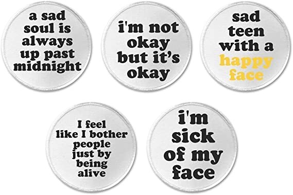 Amazon.com: Set 5 Sad Emo Punk Goth Teen Life Quotes Sayings ...