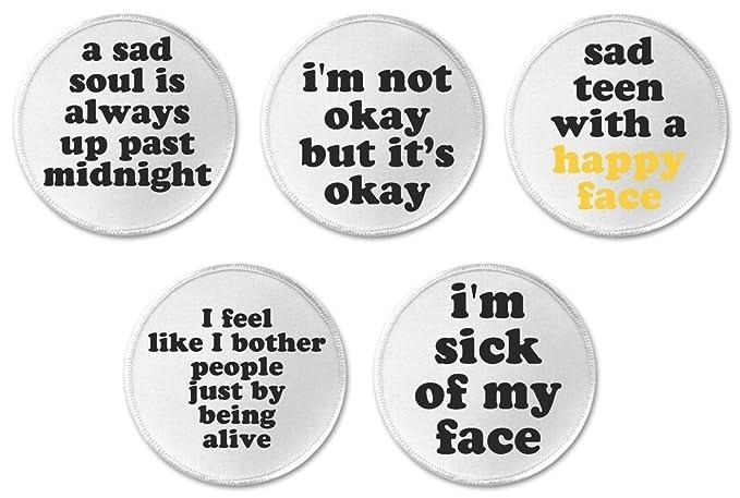 Amazon.com: Set 5 Sad Emo Punk Goth Teen Life Quotes Sayings ...
